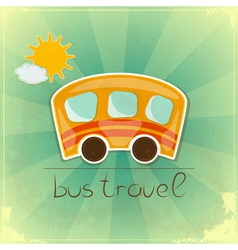 Fun Bus Travel card vector image
