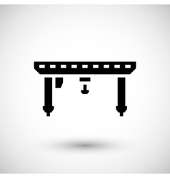 Gantry crane icon vector