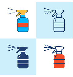 hand sanitizer spray icon set in line style vector image