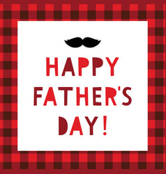 happy fathers day greeting card with mustache vector image