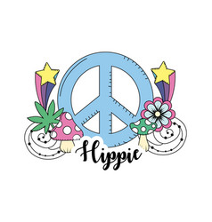 hippie culture of peace and love to lifestyle vector image