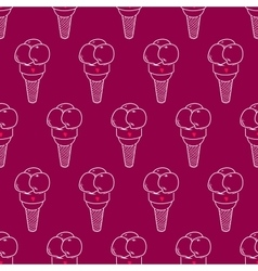 Ice Cream Easy Pattern Linear-20 vector
