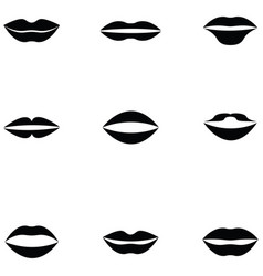 lips icon set vector image