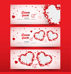 love or wedding social media banner cover vector image