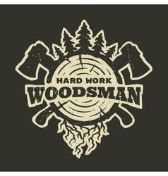 lumberjack emblem t-shirt design vector image