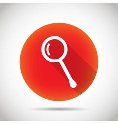 Magnifier icon vector image vector image