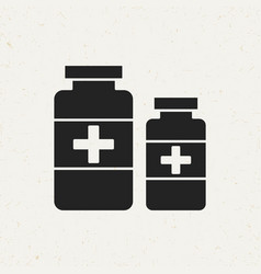 Medicine bottles icon vector