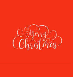 merry christmas calligraphy text quote background vector image