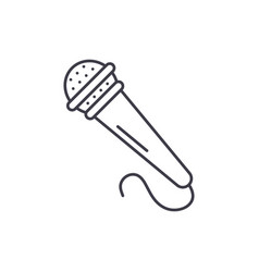 microphone line icon concept microphone vector image