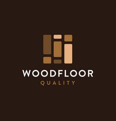Modern minimalist wood flooring logo vector