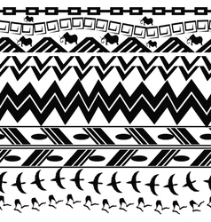 Monochrome seamless texture in tribal style vector