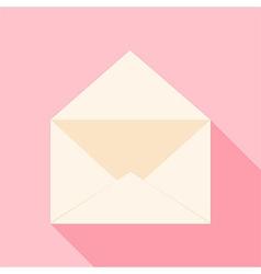 Open envelope over light pink vector image