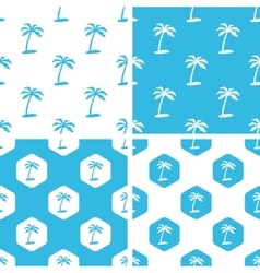 Palm tree patterns set vector image