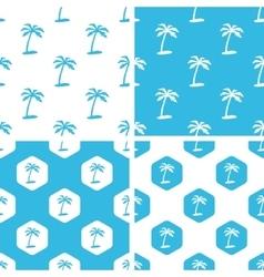 Palm tree patterns set vector