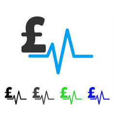 Pound pulse flat icon vector