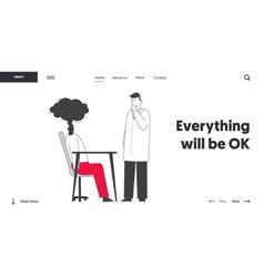 Professional and emotional burnout website landing vector