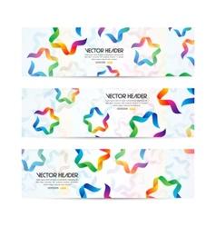 ribbon stars header vector image