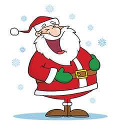 Santa Laughing vector image