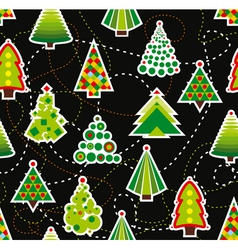 Seamless Christmas Tree Background vector image