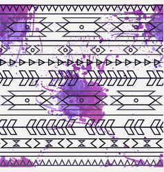 seamless decorative ethnic pattern vector image