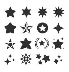 Set star icon vector