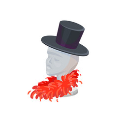 stand in shape of human head for hats mannequin vector image