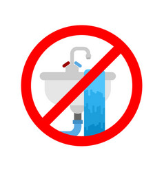 Stop washbasin clogged it is forbidden to usesink vector