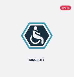 Two color disability icon from signs concept vector