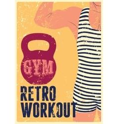 Typographic Gym vintage grunge poster design vector image