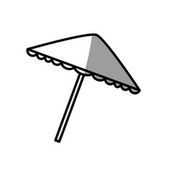 Umbrella protection picnic shadow vector