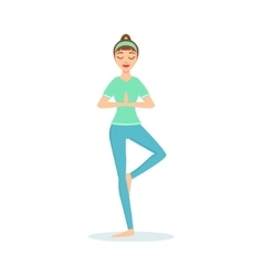 Warrior virabhadrasana yoga pose demonstrated by vector