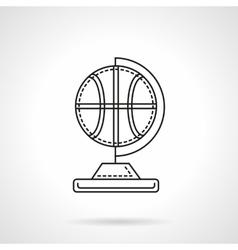 Basketball souvenir flat line icon vector image