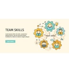 Team skills banner avatar in gear vector