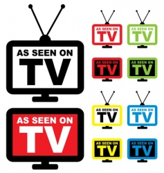 as seen on TV vector image vector image