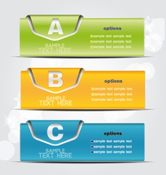 colorful banner vector image