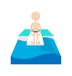 Jumping in a pool cartoon icon vector image vector image