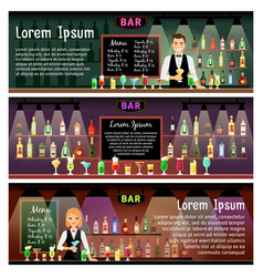 bar banners set vector image