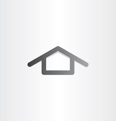 black house icon design vector image