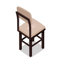 Isometric Wooden Kitchen Chair vector image vector image