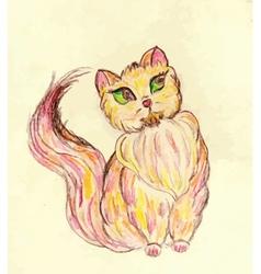 Persian Cat Sketch2 vector image vector image