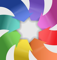 Abstract composition of color arrows vector image