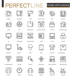 household appliances thin line web icons set vector image