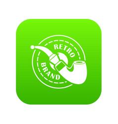 retro brand icon green vector image