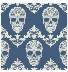 Skull Swirl Decorative Pattern vector image vector image