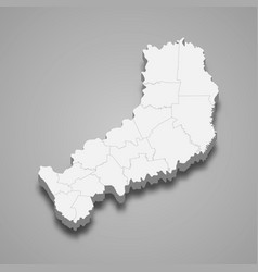 3d isometric map misiones is a province vector