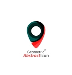 Abstract geometric business corporate emblem - map vector image vector image