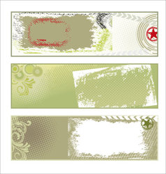 Abstract grunge banners vector