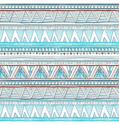 Abstract hand-drawn ethnic pattern tribal vector image