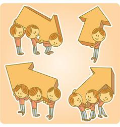 Arrows People vector image vector image