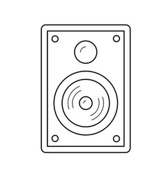 audio speaker line icon vector image